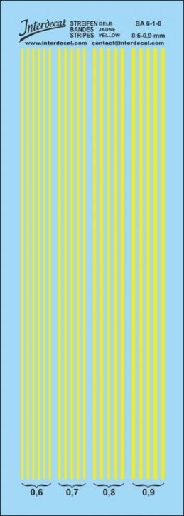 Streifen  0,6-0,9 mm gelb (50x140 mm)