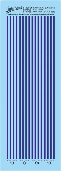 Streifen dunkelblau 1,1 - 1,4 mm  (50x140 mm)