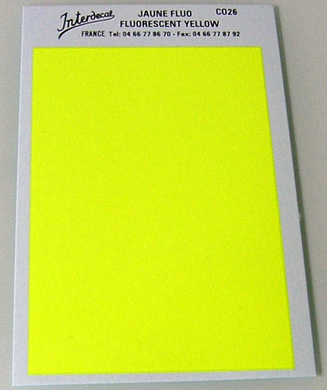 solid color plates (95 x140 mm) yellow fluorescent