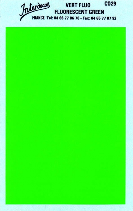 solid color plates (95 x140 mm)  green fluorescent