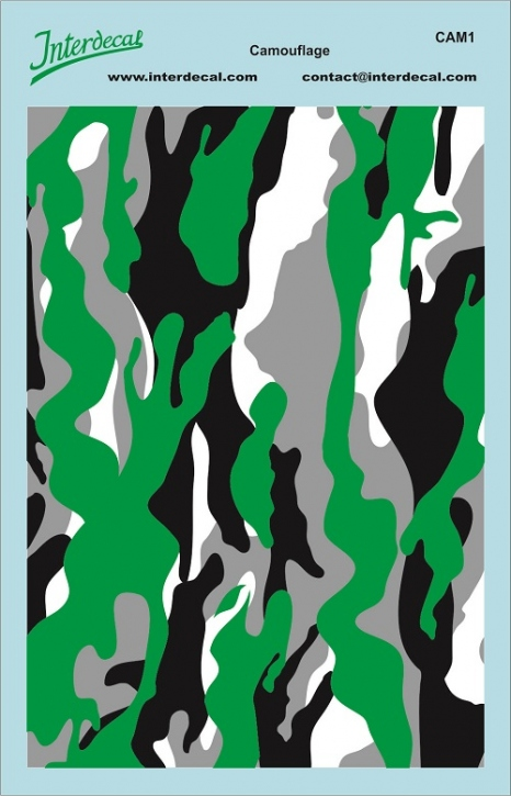 Camouflage 1 1/18 (140x90 mm)