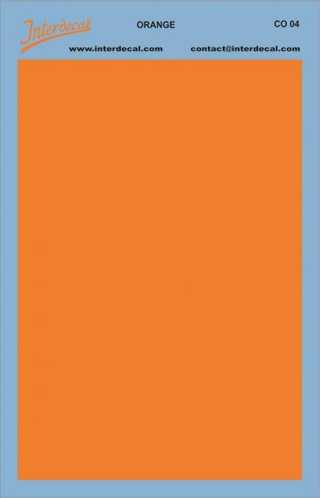 Bogen einfarbig (95 x140 mm) orange