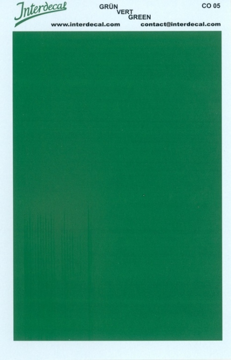 solid color plates (95 x140 mm) green