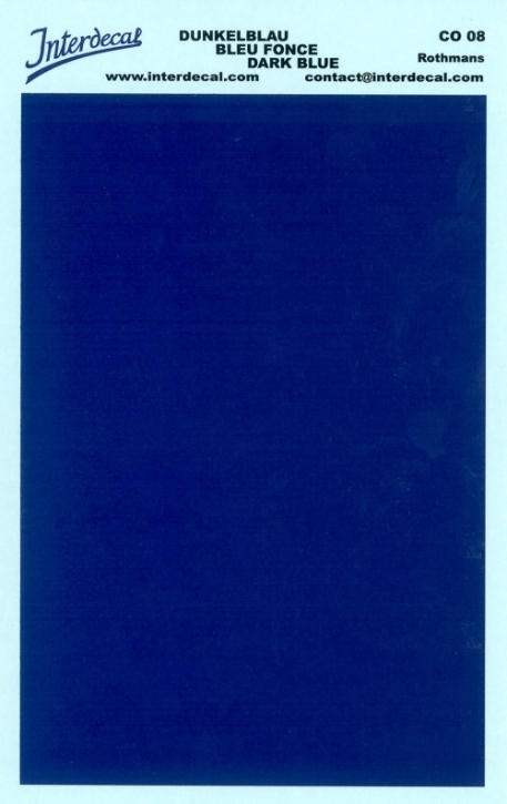 solid color plates (95 x140 mm) dark blue