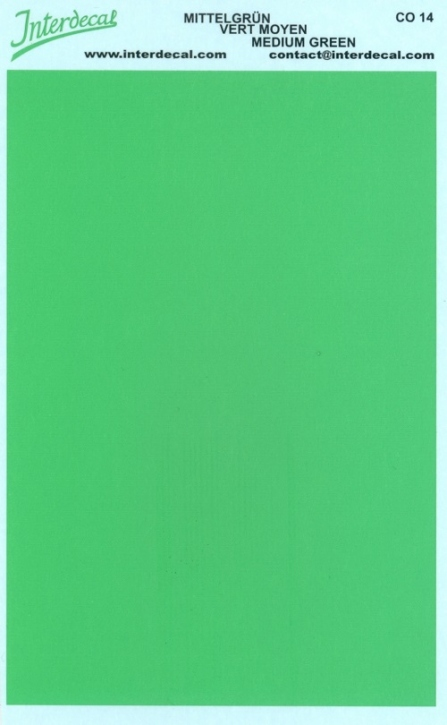 solid color plates (95 x140 mm)  medium green