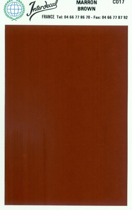 solid color plates (95 x140 mm) brown