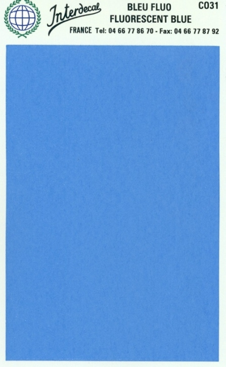 solid color plates (95 x140 mm)  blue fluorescent