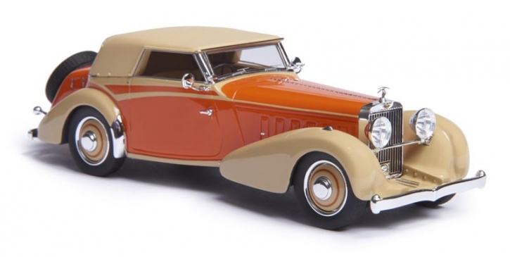 1934 Hispano Suiza J12 cabriolet by Vanvooren   top up   orange/beige   EMEU43002B