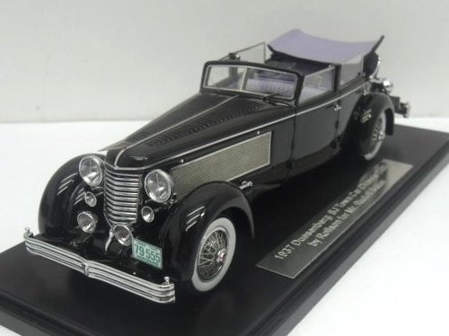 1937 Duesenberg SJ Town Car Chassis 2405 by Rollson for Mr. Rudolf Bauer (fully open, side windows up)