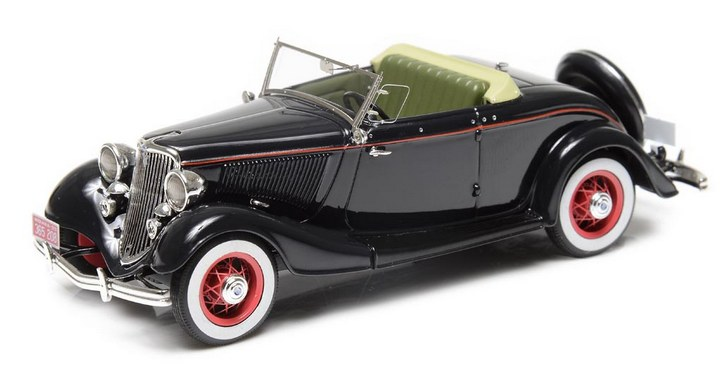 1933 Ford V8 Model 40 roadster, Top Down
