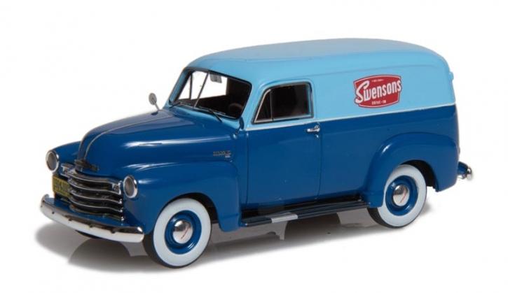 1949-53 Chevrolet Series 3100 Lieferwagen zweifarbig blau EMUS43085C