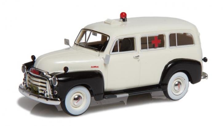 1952 GMC Suburban Ambulanz  weiss/schwarz  EMUS43085D