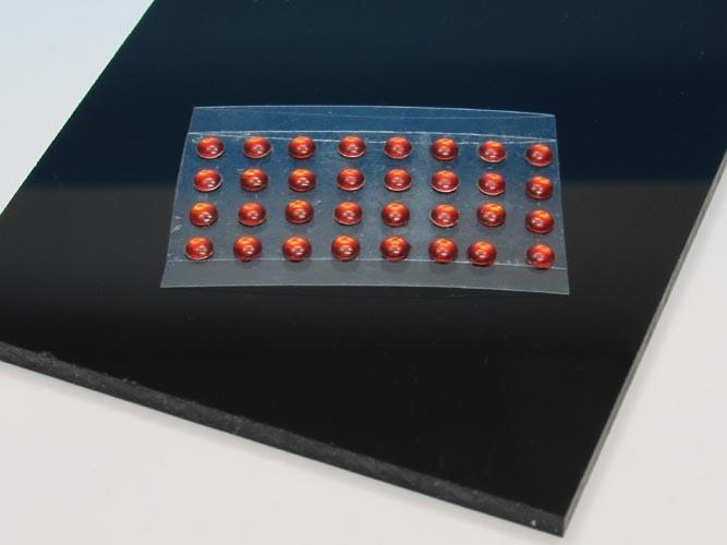 light orange round  10 pieces ø= 1,0 mm