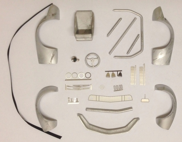 "Conversion kit for ""Minichamps"" Model  Opel GT 1/18 -Raceversion Gruppe IV"
