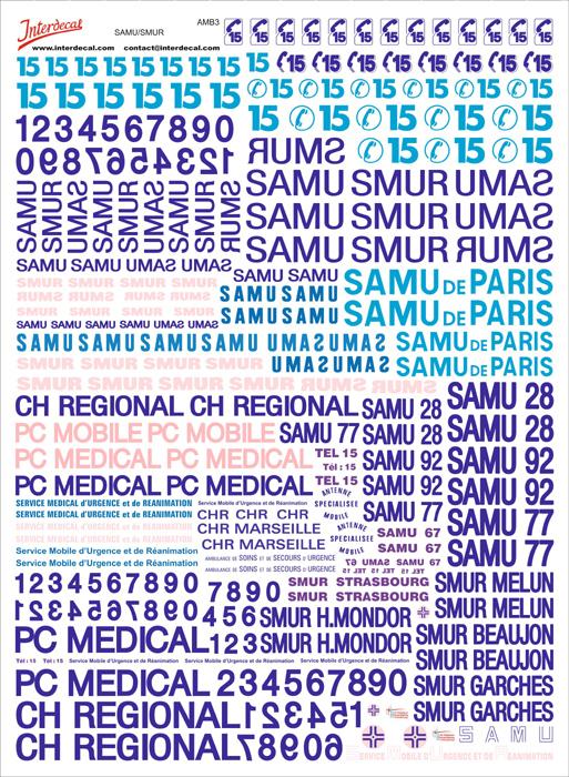 """Französiche Rettungs Dienste """"SAMU - SMUR"""" (170x230 mm)"""