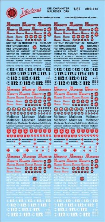 DIE JOHANNITER/Malteser/DRK Rettungs Dienste   1/87 (195x90 mm)