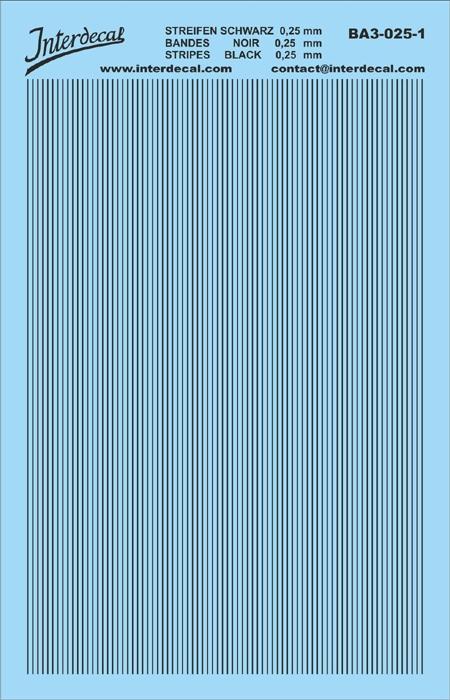 Stripes black 0,25mm  (90x140 mm)
