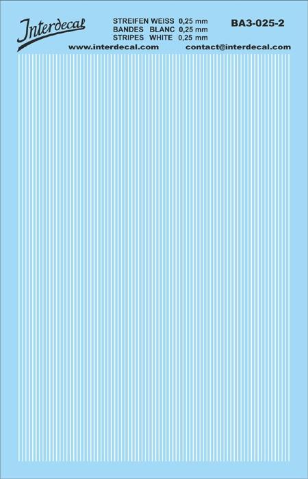 Stripes white 0,25mm  (90x140 mm)
