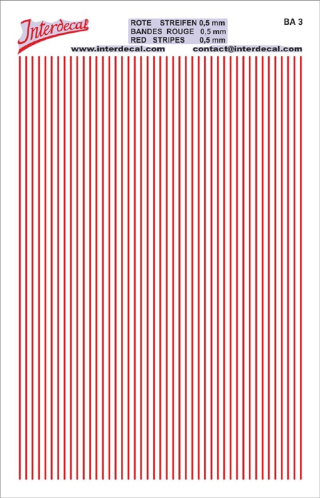 Stripes  0,5mm  red (90x140 mm)
