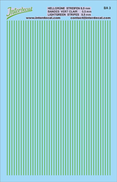Stripes  0,5mm light green (90x140 mm)