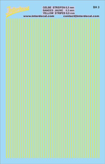 Stripes  0,5mm light yellow (90x140 mm)