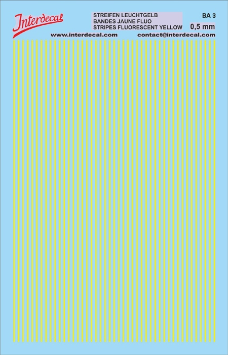 Stripes  0,5mm fluoyellow (90x140 mm)