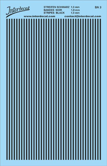 Stripes 1,0 mm  black (90x140 mm)