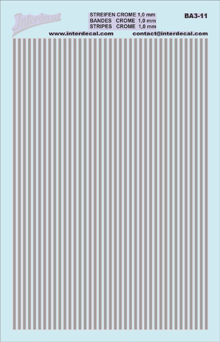 Stripes 1,0 mm  chrome effect (90x140 mm)