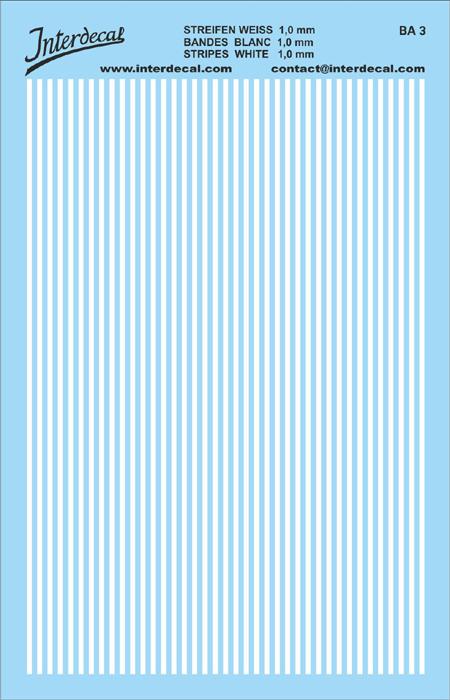 Streifen 1,0 mm  weiss (90x140 mm)