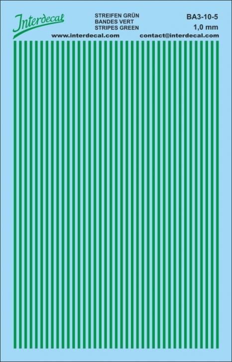 Stripes 1,0 mm  green (90x140 mm)