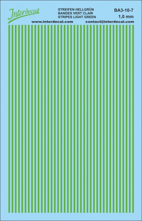 Stripes 1,0 mm lightgreen (90x140 mm)