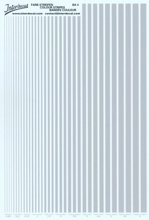 Streifen  0,25 - 5,0 mm  silber (130x190 mm)