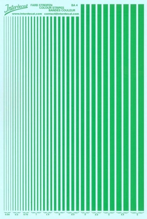 Streifen  0,25 - 5,0 mm  grün (130x190 mm)