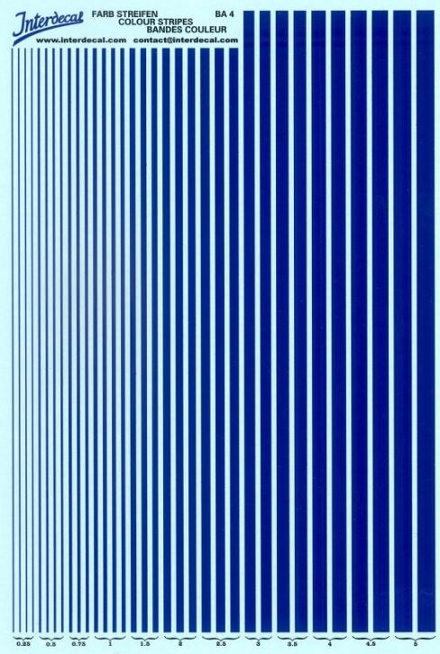 Streifen  0,25 - 5,0 mm  dunkelblau (130x190 mm)