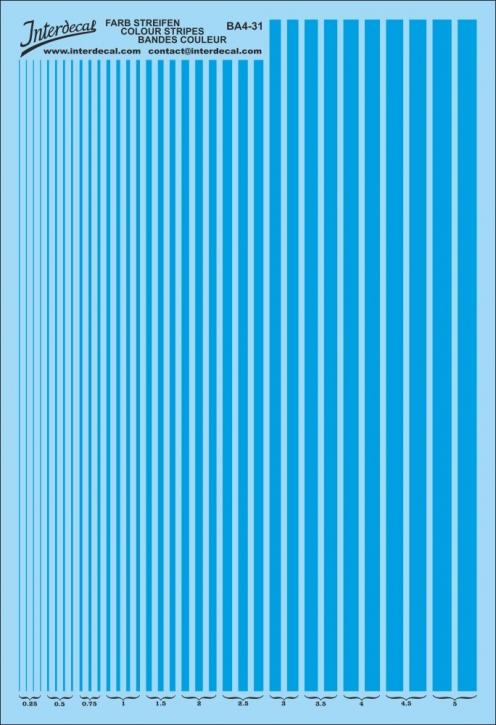 Streifen 0,25 - 5,0 mm Fluo Blau (130x190 mm)