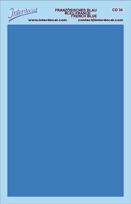 Bogen einfarbig (95 x140 mm) französisches blau