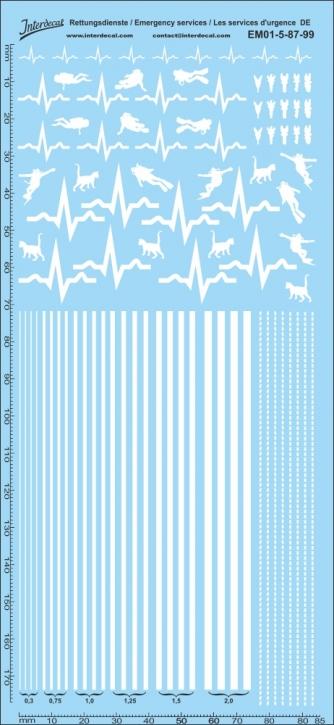 Rettungsdienste phosphoreszierend Decal DE 05 1/87 (195x90 mm)