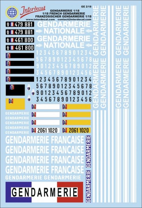 Französische Polizei (190x130 mm) 1/18
