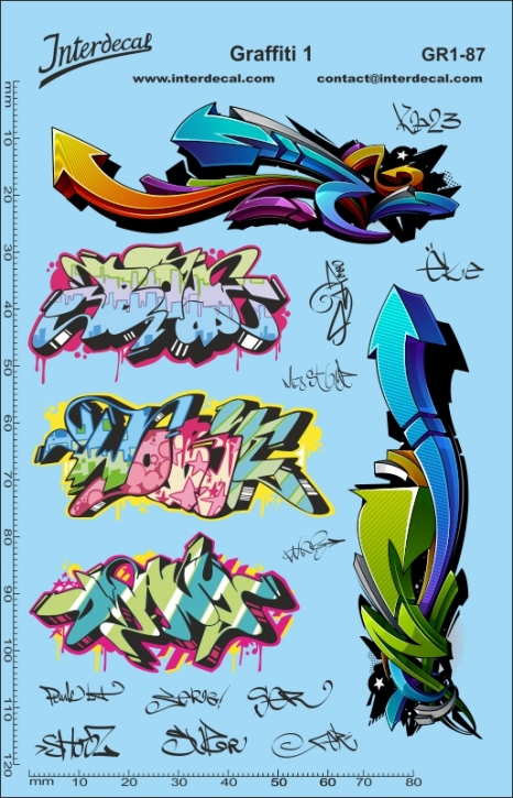 Graffiti 1 Decal 1/87 (140 x 90 mm)