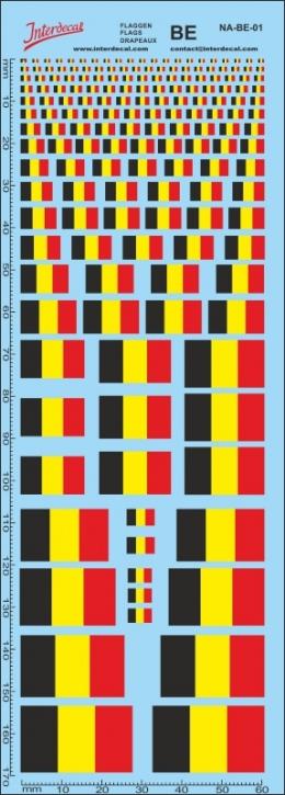 Flaggen Belgien Decal (180x70 mm)