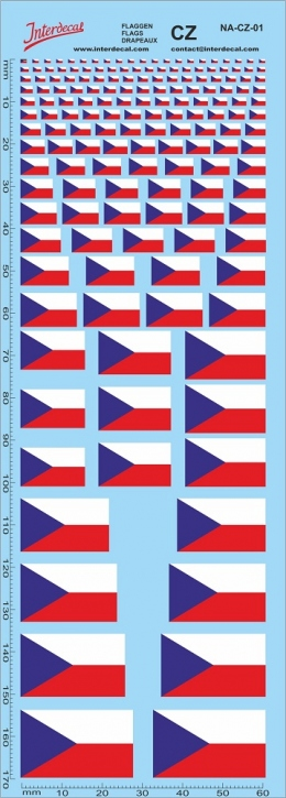 Flaggen Tschechien Decal (180x70 mm)