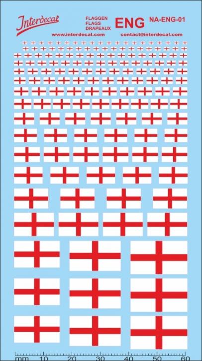 Flaggen England Decal (120x70 mm)