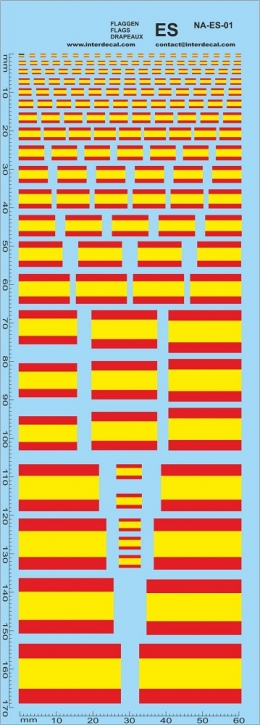 Flaggen Spanien Decal (180x70 mm)