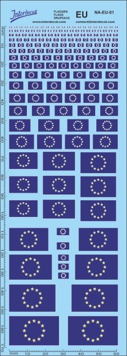 Flaggen Europa Decal (190x70 mm)