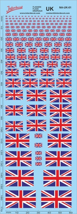 Flags Union Jack / United Kingdom Decal (180x70 mm)