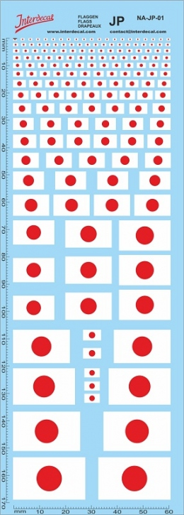 Flags Japan Decal (180x70 mm)