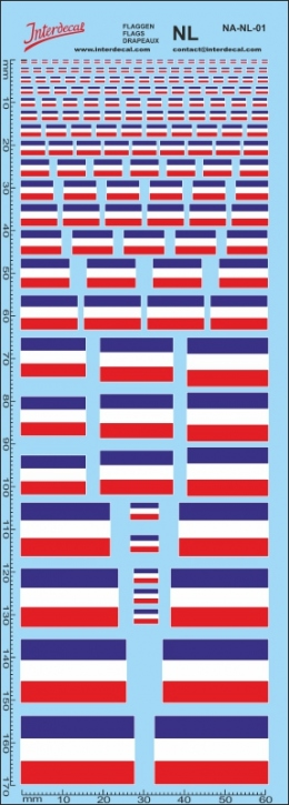 Flaggen Niederlande / Holland Decal (180x70 mm)