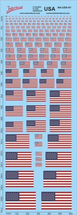 Flags USA / United States of America (180x70 mm)