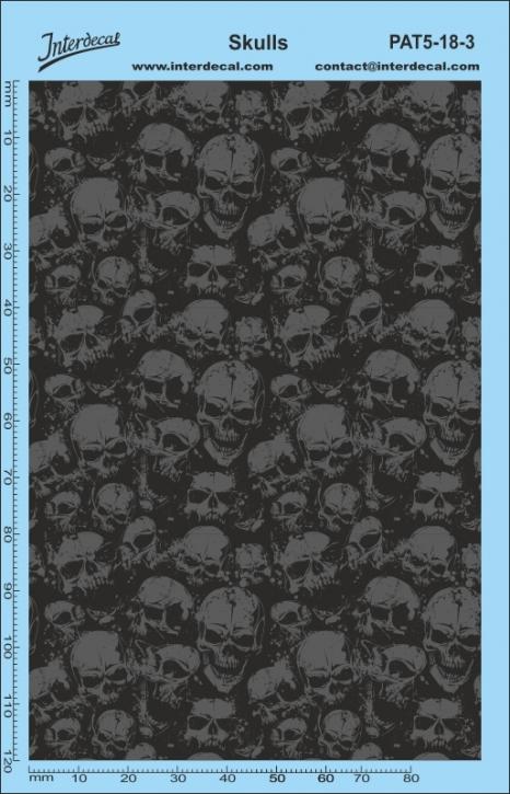 Stickerbomb Skull motif Decal (140 x 90 mm)