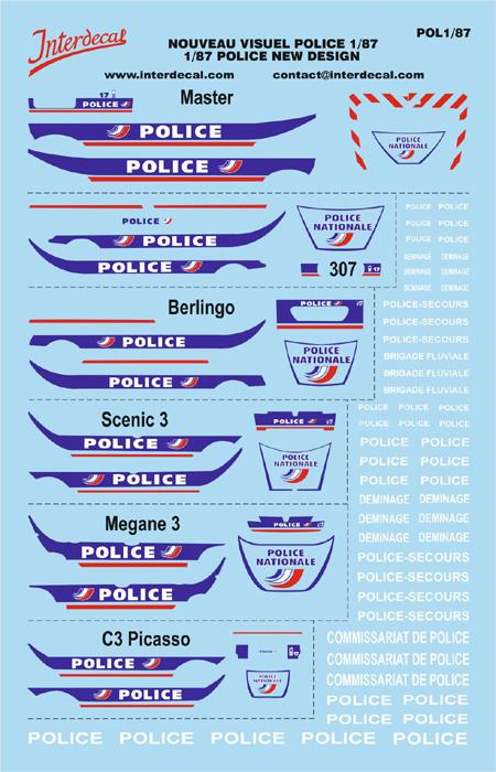 Französiche Polizei 1/87  (140x95 mm)